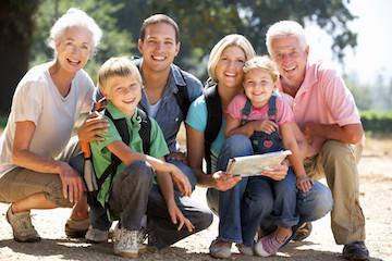 Grandparents, parents, and children smiling | Family Dentist Eagan MN