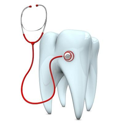 Tooth with Stethoscope for Dental Emergencies in Eagan MN