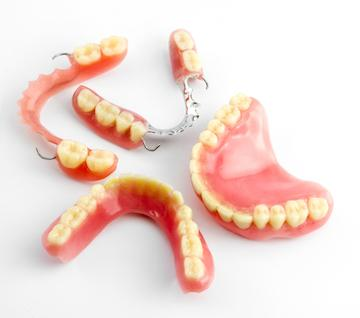 Sets of partial dentures in Eagan MN